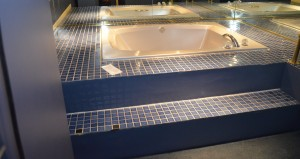 The Jacuzzi with Blue Tiling